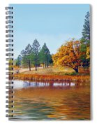 Autumn Lake In The Woods Spiral Notebook