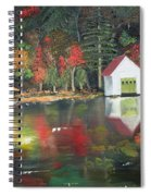 Autumn - Lake - Reflecton Spiral Notebook