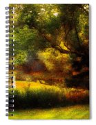 Autumn - Landscape - Past And Present Spiral Notebook