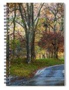 Autumn Lane  Spiral Notebook