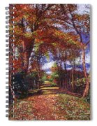 Autumn Leaf Road Spiral Notebook