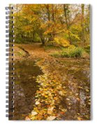 Autumn Leaves In Burn Vertical Spiral Notebook