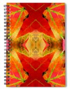 Autumn Leaves Mirrored Spiral Notebook