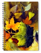 Autumn Leaves Spiral Notebook