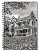 Autumn Mansion Bw Spiral Notebook