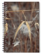 Autumn Milkweed Spiral Notebook