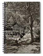 Autumn Mill 2 Sepia Spiral Notebook