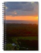 Autumn Morning Over Wailua Spiral Notebook