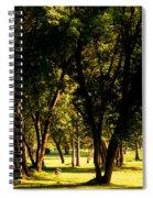 Autumn Morning Stroll Spiral Notebook