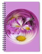Autumn Mum Orb Abstract Spiral Notebook