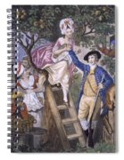 Autumn, Negro Servant, C.1780 Spiral Notebook