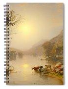 Autumn On Greenwood Lake Spiral Notebook