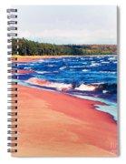 Autumn On Lake Superior Spiral Notebook