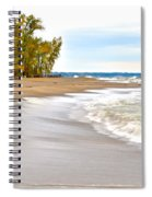 Autumn On The Beach Spiral Notebook
