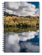 Autumn On The Klamath 11 Spiral Notebook