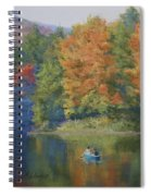 Autumn On The Lake Spiral Notebook