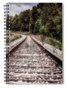 Autumn On The Railroad Tracks Spiral Notebook