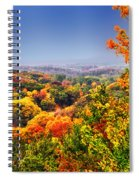 Autumn Over The Rolling Hills Spiral Notebook