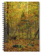 Autumn Red Was Blood Red Spiral Notebook
