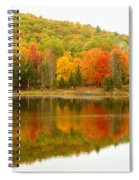 Autumn Reflection Panoramic View Spiral Notebook