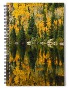 Autumn Reflections At Bear Lake Spiral Notebook
