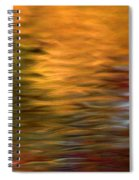 Autumn Reflections In Pond Spiral Notebook