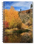 Autumn Reflections In The Susan River Canyon Spiral Notebook