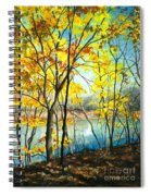 Autumn River Walk Spiral Notebook