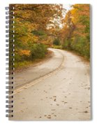Autumn Road II Spiral Notebook