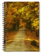 Autumn Road Spiral Notebook