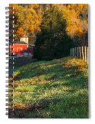 Autumn Road Morning Spiral Notebook