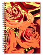 Autumn Roses On Your Wall Spiral Notebook