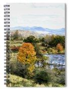 Autumn Rural Scene Spiral Notebook