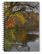 Autumn Scene Of The Flat River Spiral Notebook