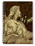 Red Autumn Sculpture Spiral Notebook