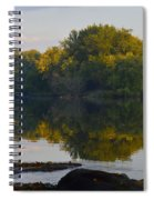Autumn Shell Rock Panel 2 Spiral Notebook