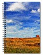 Autumn Sky Impasto Spiral Notebook