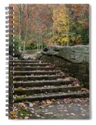 Autumn Stone Staircase Spiral Notebook