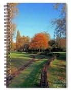 Autumn Tracks Spiral Notebook