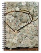 Autumn Tree In Stirred Air. Winter Tree Spiral Notebook