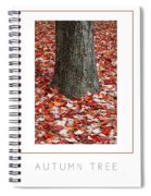 Autumn Tree Poster Spiral Notebook