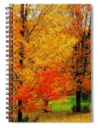 Autumn Trees By Barn Spiral Notebook