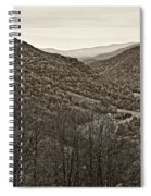 Autumn Valley Sepia Spiral Notebook