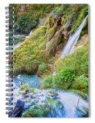 Autumn Valley Waterfalls Spiral Notebook