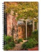 Autumn Walk In Pinehurst Spiral Notebook