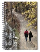 Autumn Walk On The C And O Canal Towpath Spiral Notebook