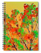 Autumn Watercolor Painting Spiral Notebook