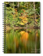 Autumn Watercolor Reflections Spiral Notebook