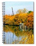 Autumn Weekend On The Delta Spiral Notebook