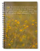 Autumn Wildflowers W Quote Spiral Notebook